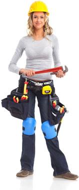 female trainee plumber